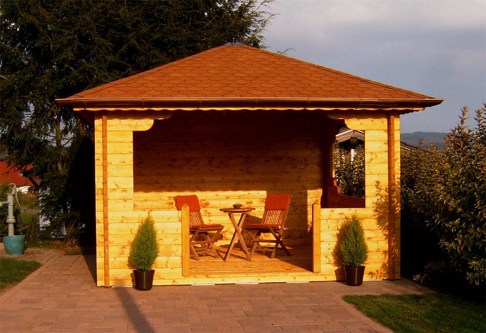 pavillon grillpavillon freisitz teil 1 karst holzhaus. Black Bedroom Furniture Sets. Home Design Ideas