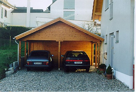 doppelcarport mit ger teraum satteldach karst holzhaus. Black Bedroom Furniture Sets. Home Design Ideas
