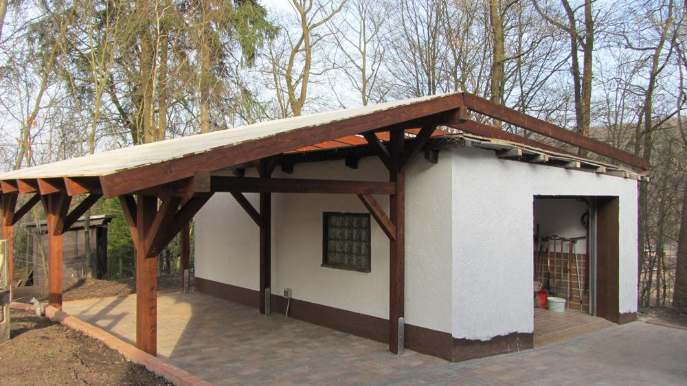 Carport als Anbau an Garage | Karst Holzhaus